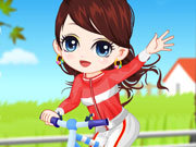 Girl Learn Bicycl...